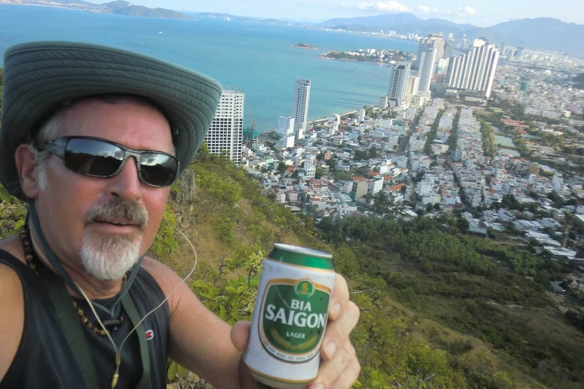 southeast asia beer report man holding can of vietnamese beer