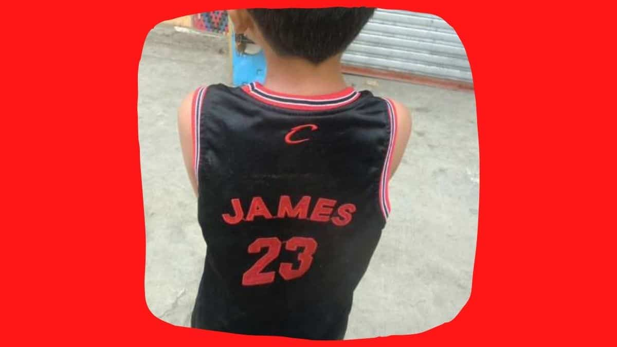 lebron james jersey on a young filipino on cebu island