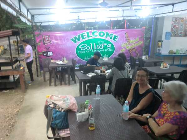 travel and internet trouble at home had us going to this awesome restaurant called sollie's in liloan