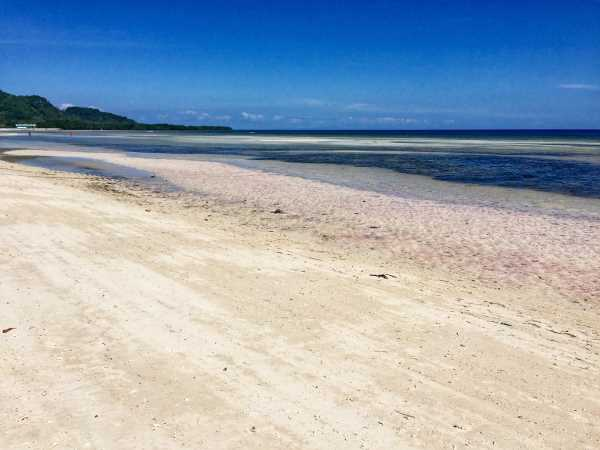 Anda Beach has expansive white sand on Bohol Island in the Philippines.
