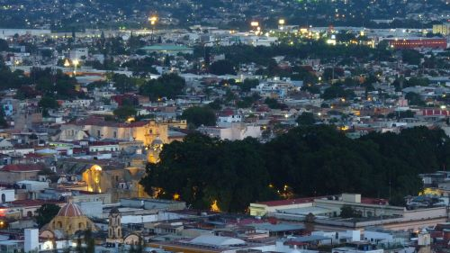 Oaxaca City as seen from an overlook just outside the city.