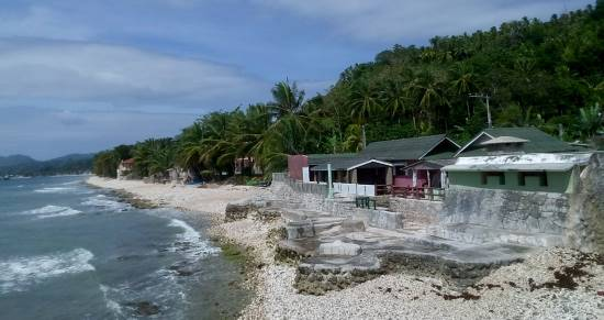 a typical house for rent in retirement on bohol island in the philippines right on the water