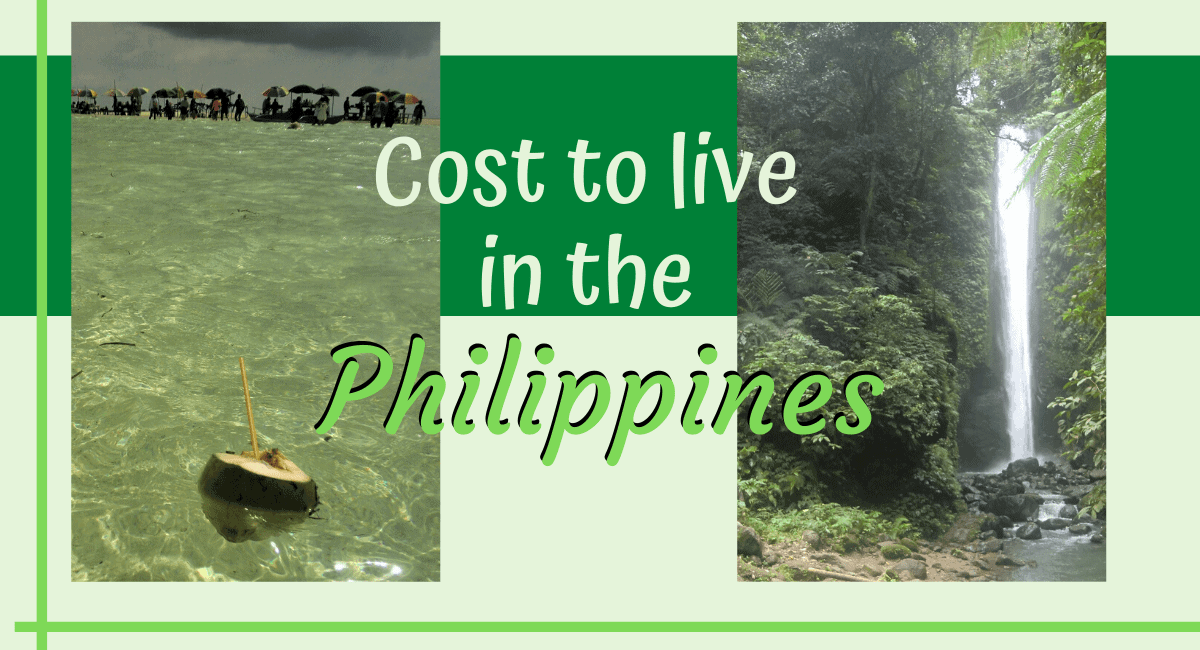 Cost of living in the Philippines for 1 month