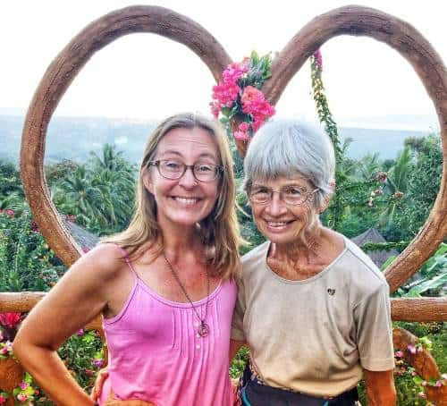 Ellen and Diane enjoy an overlook on Negros Island in the Philippines despite the coronavirus and travel plans that are up in the air.