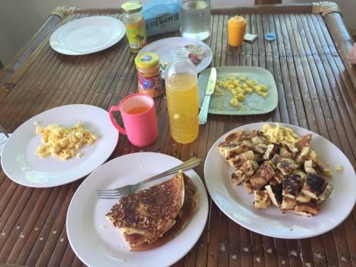 Pancake and egg brunch on Philippine Quarantine Day 13.