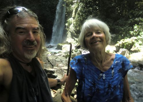 Tedly and his mom hike through the forest to a waterfall despite unknown answers about the coronovirus and travel plans.