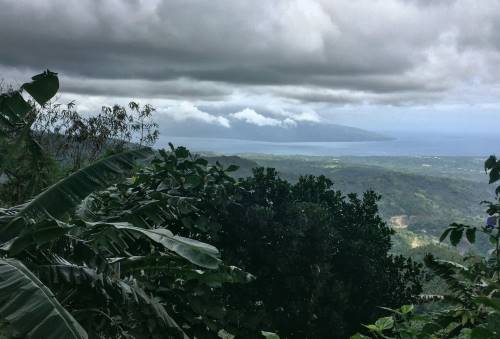View of Cebu Island in the distance from the top of the Amity Memorial Shrine in Negros Oriental.
