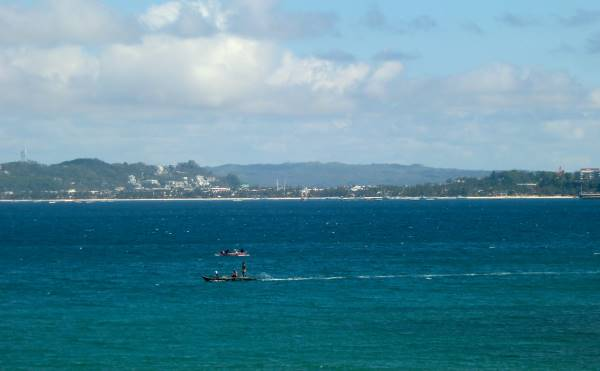 What Boracay looks like in pandemic days- picture from our roof across the channel