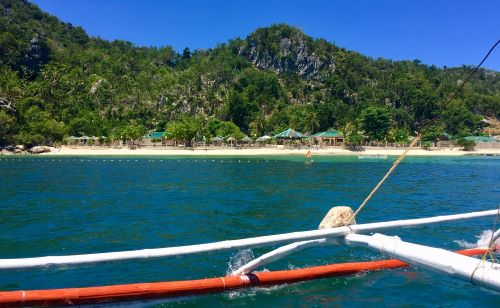 Se San resort on North Gigantes Island, as seen from a boat.