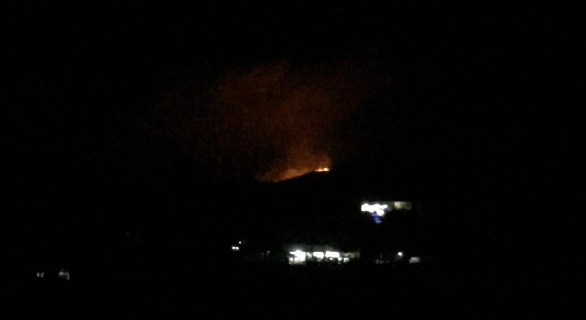 wildfire at night in malay