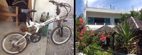 quarantine easing - bike pictured left, apartment on the right