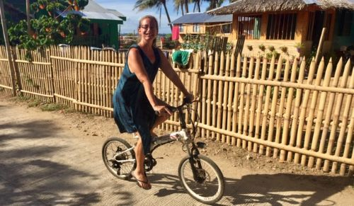 ellen on the pandemic bicycle