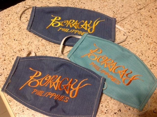 embroidered boracay masks