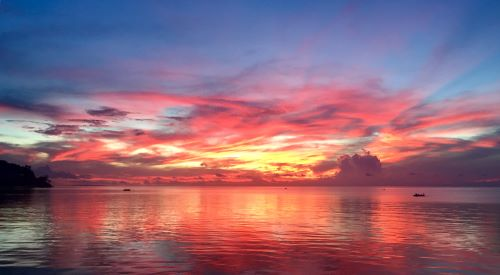 colorful sunset in malay, aklan, philippines, while out and about in the new normal on date night