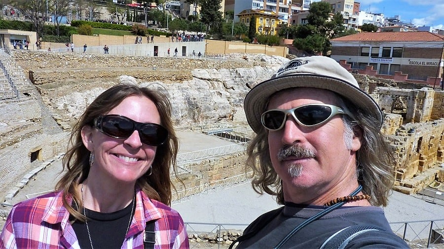 Ellen and tedly in Tarragona, Spain, early 2018.