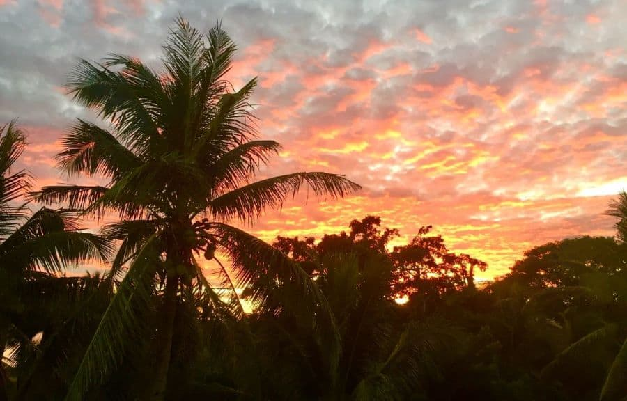 Beautiful sunrise in Malay, Aklan, Philippines.