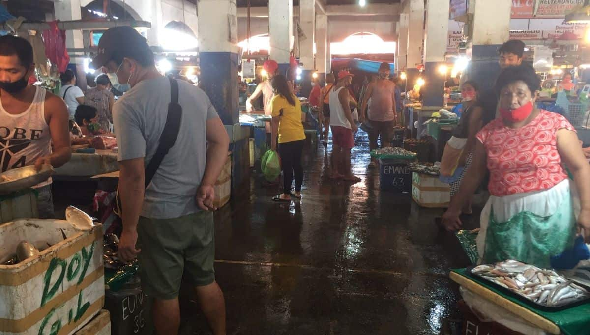 damned if you reopen, damned if you don't - picture of the fish section of the public market in kalibo, aklan, philippines