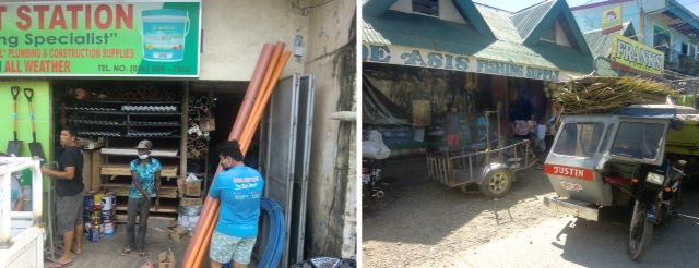 Supply shopping with ati in the town of caticlan on Panay Island in the Philippines.