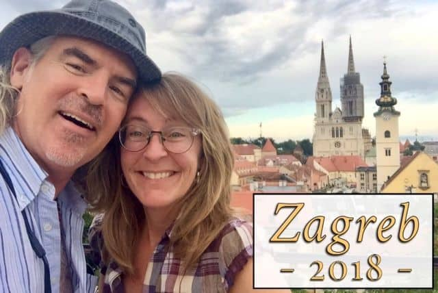 Tedly and Ellen in front of the famous Zagreb church