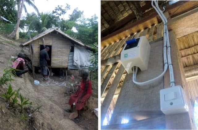 Ati work on sustainability projects includes wiring native homes, also called nipa huts, so they may have electricity in the coming weeks.