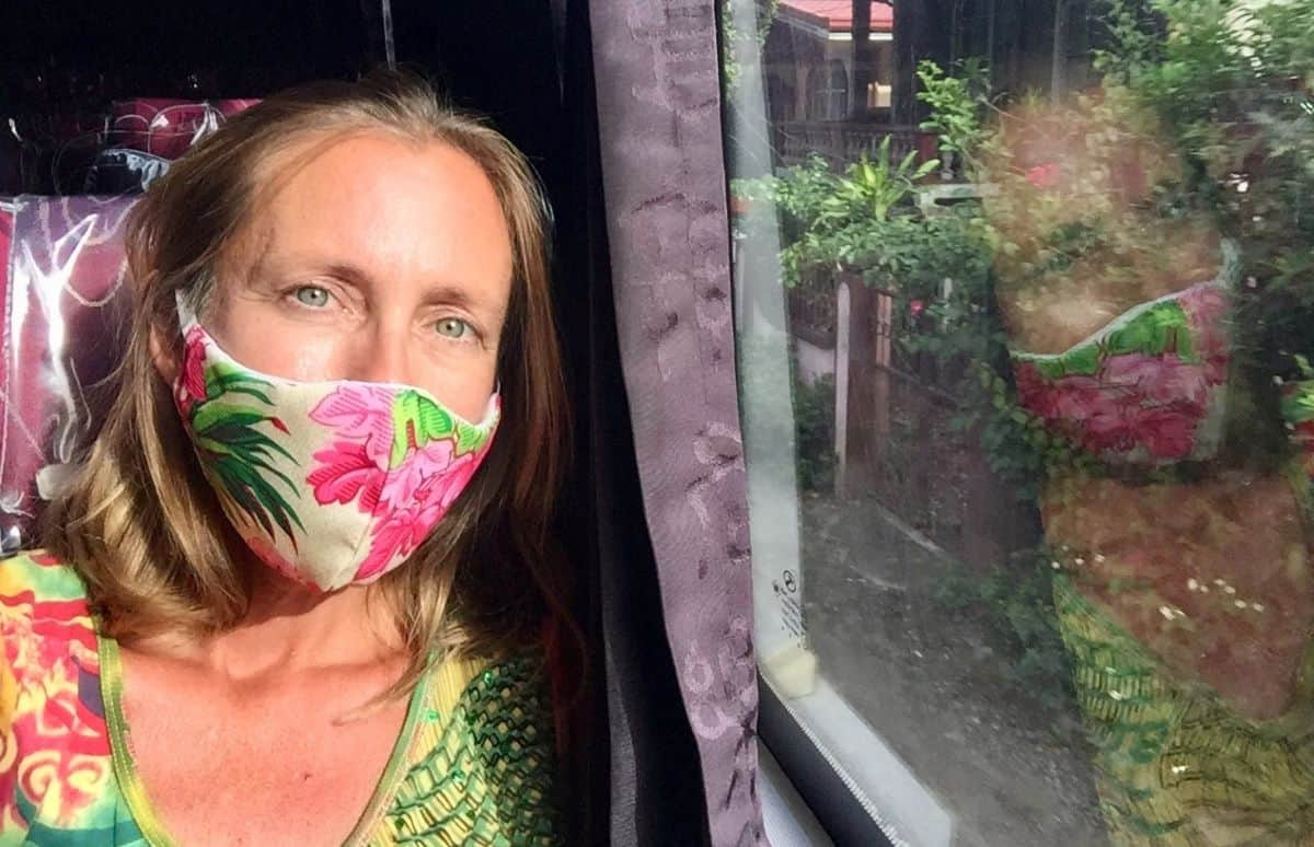breast cancer warrior on a philippine bus