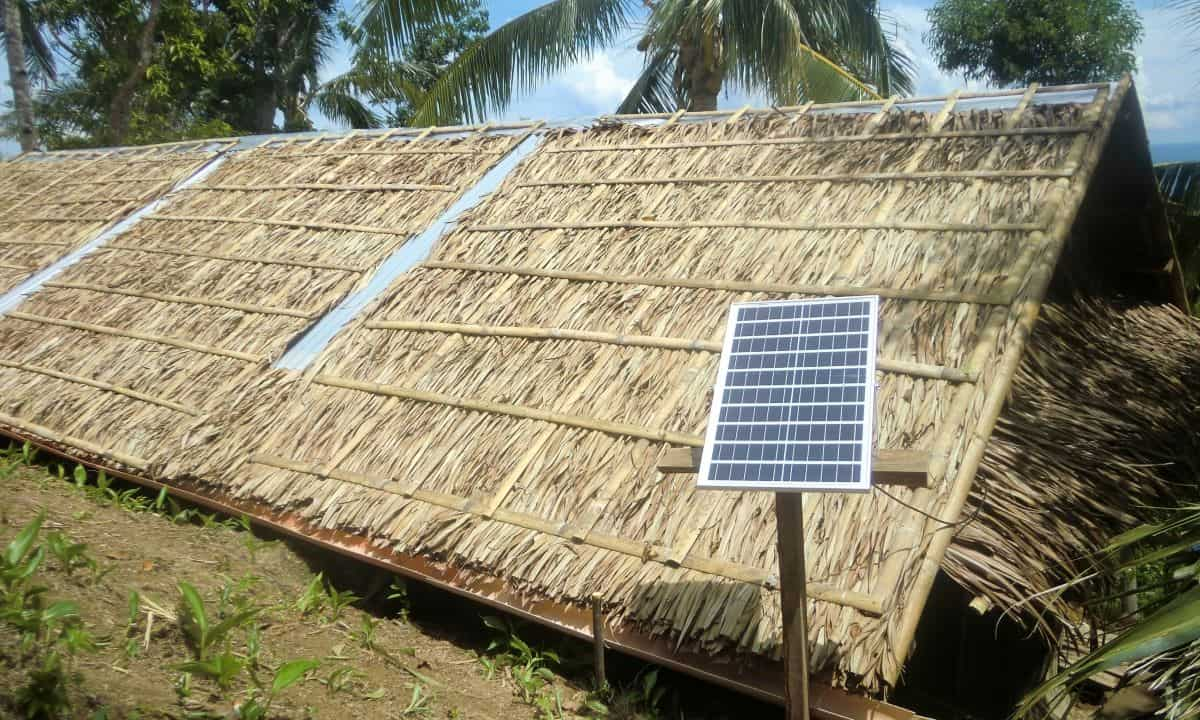Without electricity yet, Ati solar light works for now