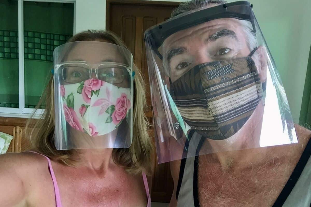 Pandemic news update: Face shields like these are required for public transport in the Philippines.