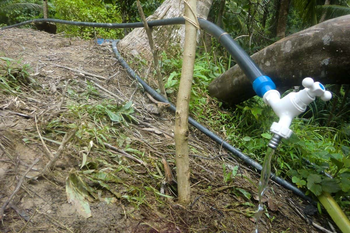 The new water spigot for the other Ati project - improving the drinking water situation.