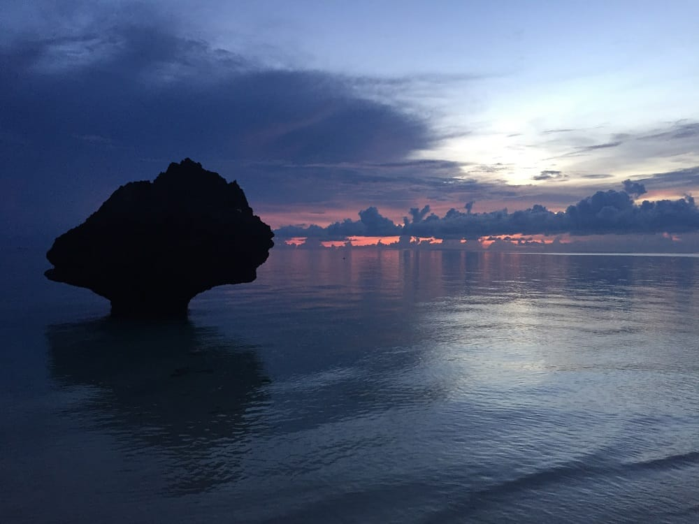 tropical paradise boracay just after sunset at diniwid