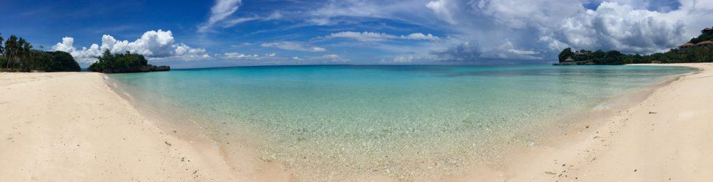 Panoramic view of the most exclusive Boracay beach - Punta Bunga.