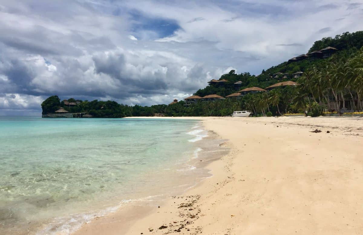 Punta Bunga resorts like Shangri La are deserted in the weeks before domestic tourism reopens on Boracay Island.