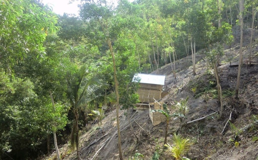 An Ati home on the mountainside in Malay, Aklan, Philippines.