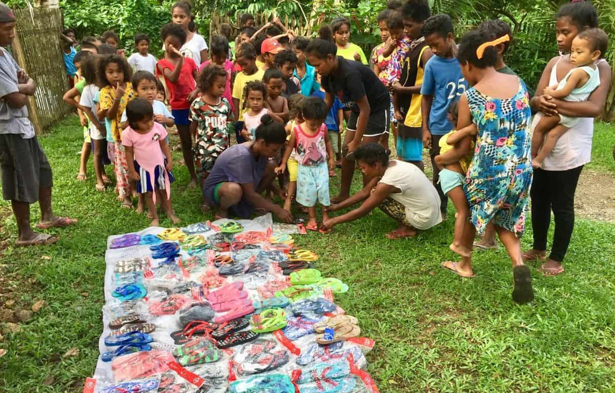 Early Christmas for Ati children in Malay, Philippines