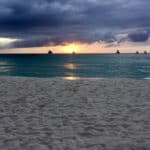 Masboi sailboats at sunset on Boracay Island.