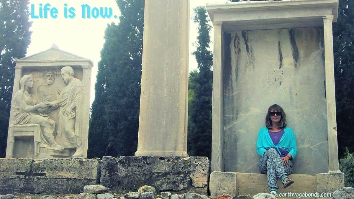 Ellen sits Kerameikos cemetery in Athens, Greece.
