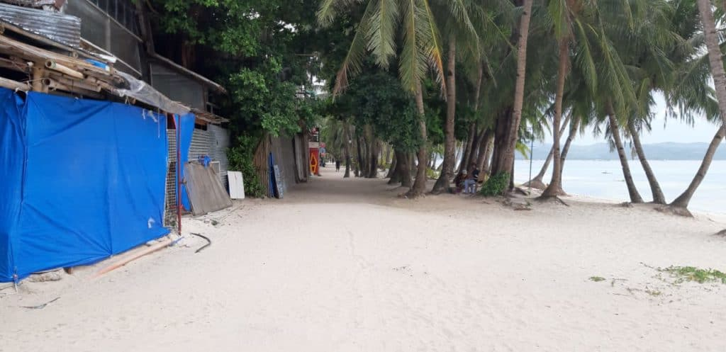 Parts of Boracay are locked down for Holy Week and this means its beaches are again empty.