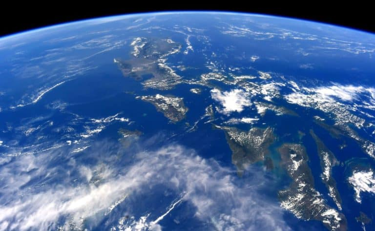 Philippines from space station, shot taken by Soichi Noguchi, a Japanese astronaut.