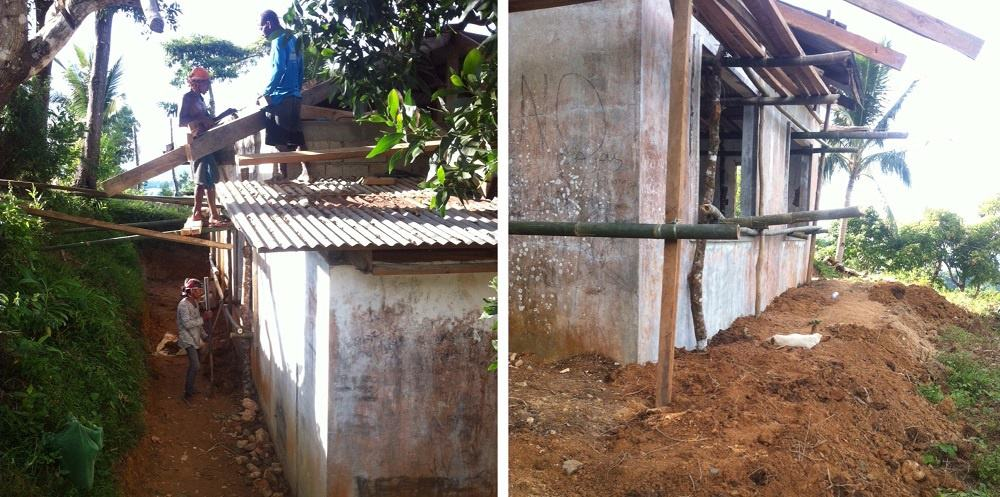 Ati roof project is sponsored by Earth Vagabonds and overseas donors.