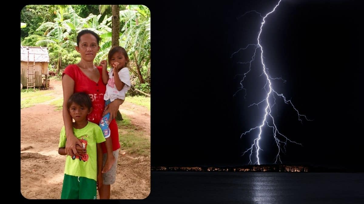 When lightning strikes, humanity to the rescue
