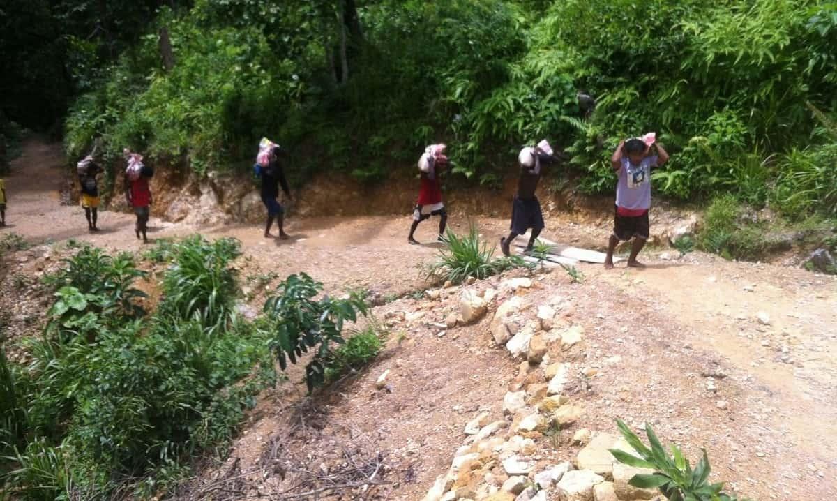 Concrete progress in Kurong Village