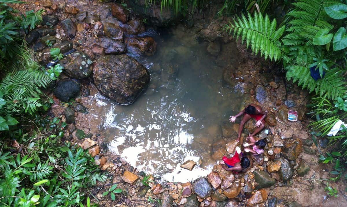 'Natural' soak pit on Ati land in Malay, Aklan, Philippines.